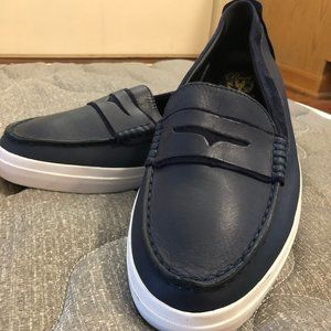 Cole Haan Pinch Navy Blue Leather penny Loafer